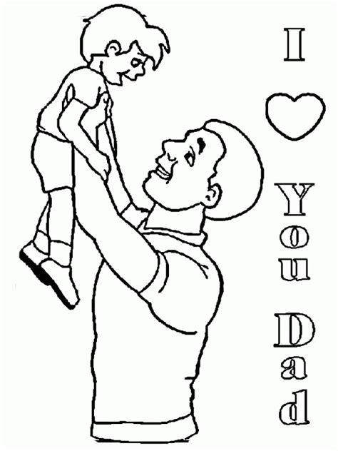 dad and son coloring page coloring home
