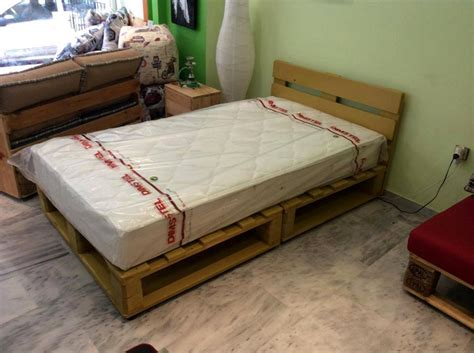 Bed Frame Idea Ideas About Pallet Bed Frames Pallet Wood Projects