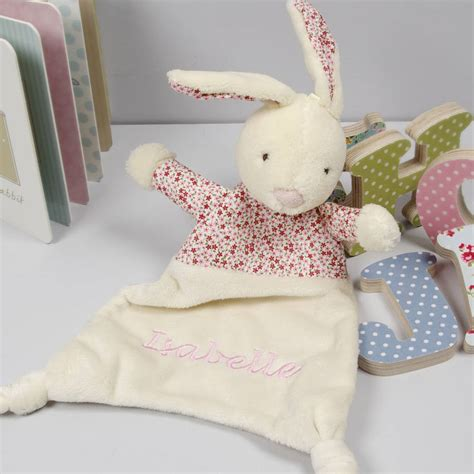 rabbit comforter personalised petal bunny comforter blanket by the alphabet