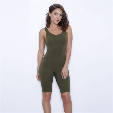 Jumpsuit Playsuit Overall one bodycon jumpsuit 2016 rompers womens jumpsuit bodysuit knee length overall