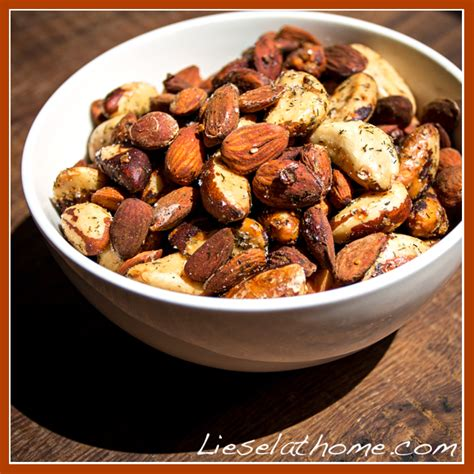 Oven Baked Nuts oven roasted nuts the snack liesel at home