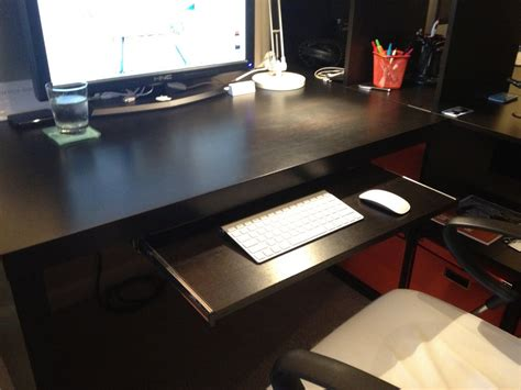 desk keyboard tray ikea yes keyboard tray for ikea expedit desk diy for the