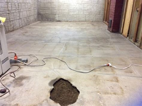 Basement concrete floor repairs