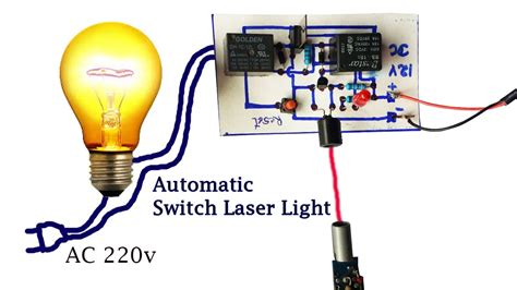 how to create automatic switch laser light circuit
