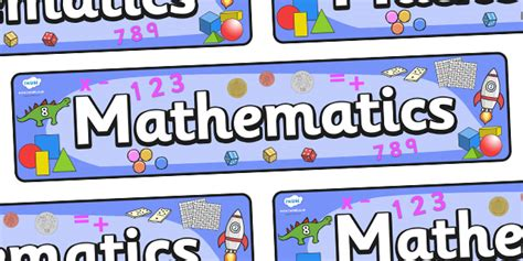 printable display banner twinkl resources gt gt mathematics display banner