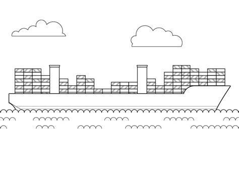 barco crucero dibujo el barco m 225 s grande del mundo dibujo para colorear e imprimir