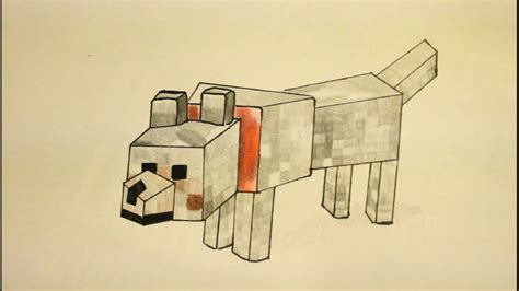 doodle draw minecraft minecraft wolf drawing www imgkid the image kid