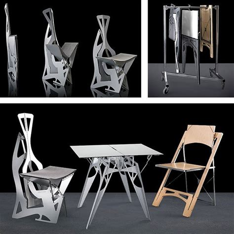 Origami Folding Furniture - folditure origami folding tables and chairs the gadgeteer