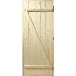 porte de service bois sapin poussant droit h 205 x l 80