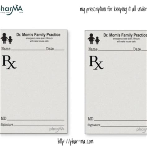 Dr Mom S Prescription Pad Fun Activities For Preschoolers Toddlers Pinterest The O Jays Mattress Prescription Template