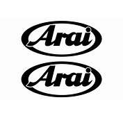Arai Logo StickersChoose The Color Yourselfand Select