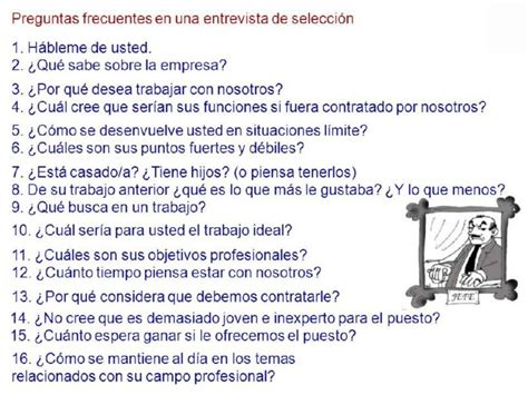 preguntas que hacen una entrevista de trabajo ejemplos de preguntas entrevista de trabajo preguntas y