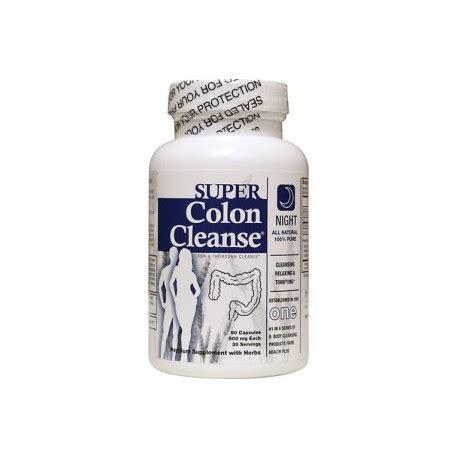 Colon Detox Cleaning Formula Capsules by Colon Cleanse Formula 90 Capsules By Health Plus