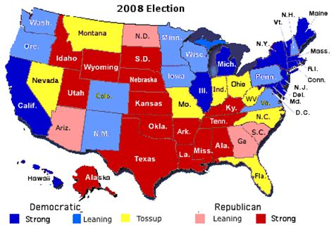 swing vote states 2008 caign