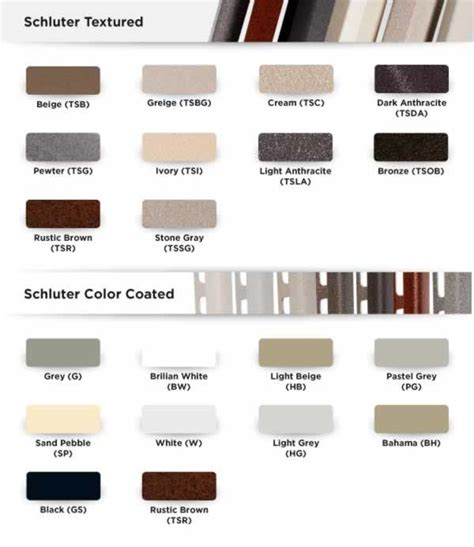 schluter colors schluter 174 jolly tile edging wall or floor profile