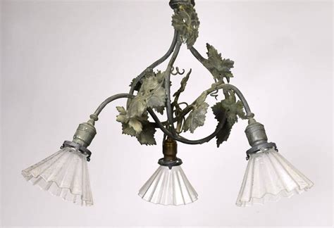 grapevine lighting of the tree three light bronze grapevine chandelier with shades at 1stdibs