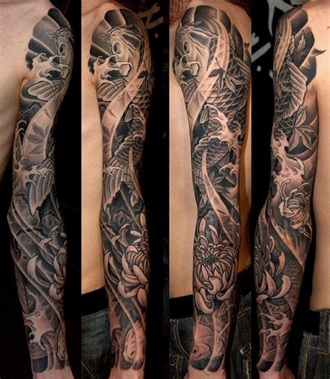 tattoo full arm japanese japanese full sleeve tattoos by bardadim tattoo brooklyn nyc