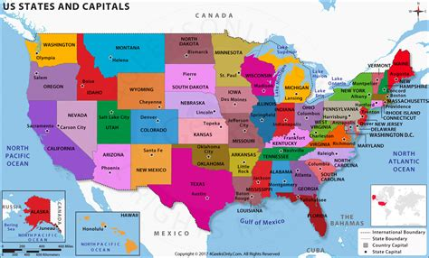usa map with all states and capitals us states and capitals map in hd