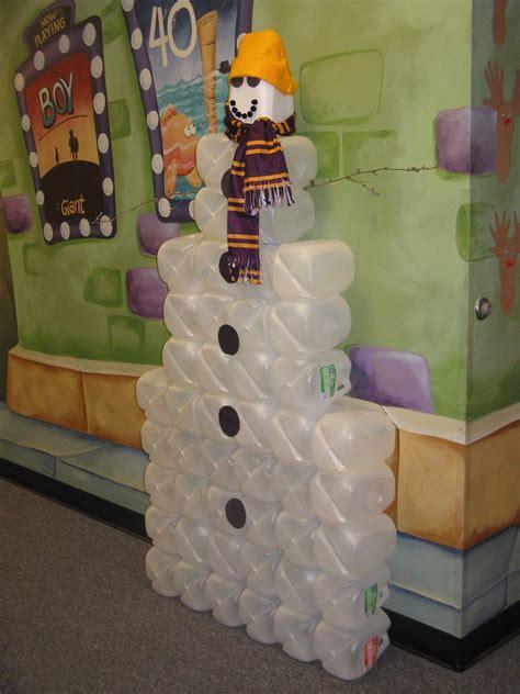 our large milk jug snowman december pinterest milk