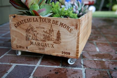 Wine Box Planter Diy by Wine Crate Planter Diy At Playtime