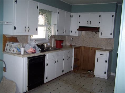 Painted Old Kitchen Cabinets by Grace Lee Cottage Updating Old Kitchen Cabinets