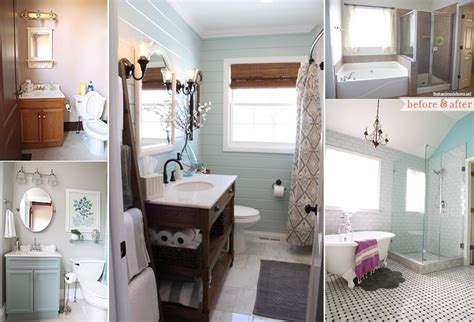 Low Budget Bathroom Makeovers by 20 Beautiful Before And After Bathroom Makeovers