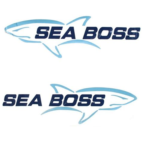 boat manufacturer decals sea boss with fish graphic vinyl boat decal set of 2 ebay