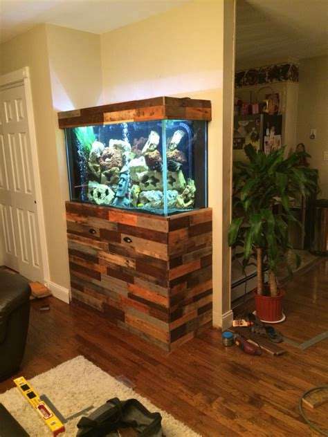 fish tank stand i made using pallets pallet projects