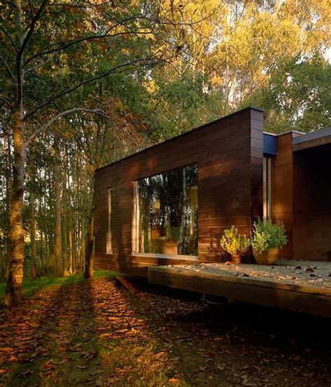nature house design wood house concept harmony with nature