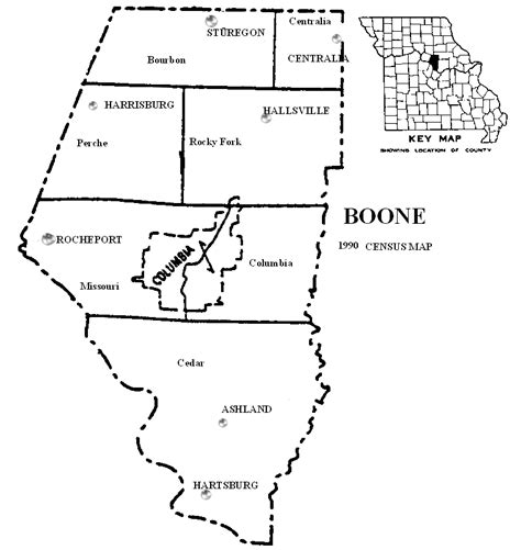 boone map the usgenweb archives digital map library missouri county