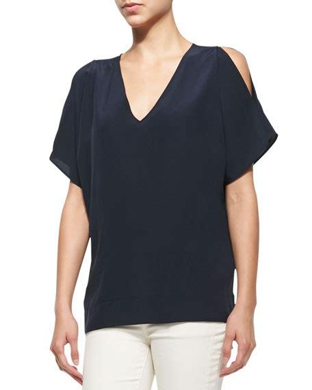 Wap Tunic Dress belstaff cold shoulder cocoon tunic blue