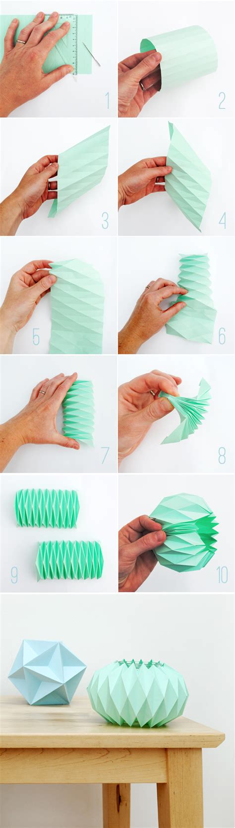 How To Make A Paper Accordion - accordion paper folding candle holders minieco