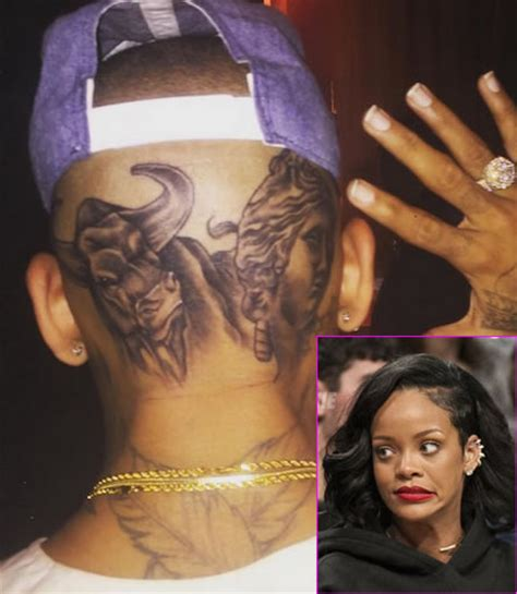 rihanna thinks chris brown s head tattoos were a poor