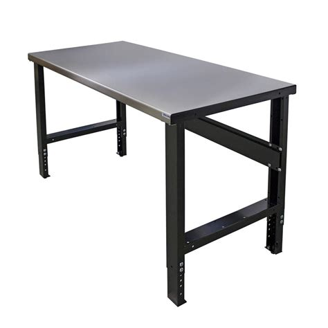 Metal Island Kitchen bench solution commercial duty foldaway workbench with 60