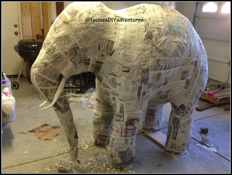 How To Make An Elephant Out Of Paper - tutorial on how to make paper mache elephant almost