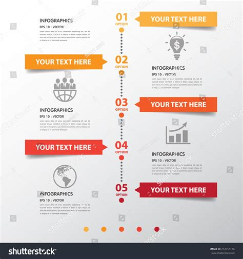 circle design clean number timeline templategraphic stock