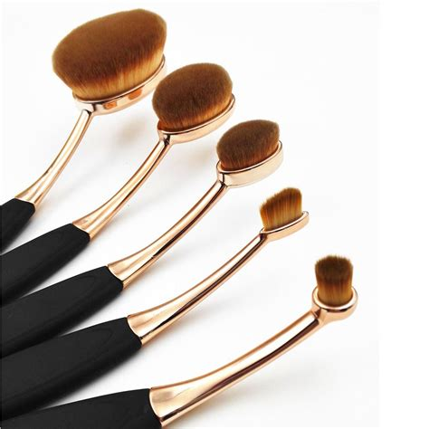 Kuas Mac 5 Pcs mac style artis professional toothbrush shape makeup oval brush 10x set ebay