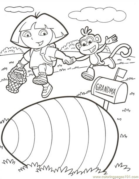 coloring pages dora boots easter color cartoons gt dora