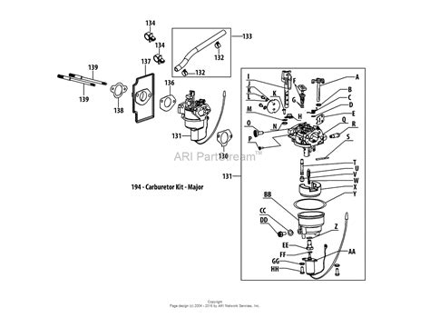 troy bilt tiller carburetor diagram troy bilt 13a279ks066 bronco 2013 parts diagram