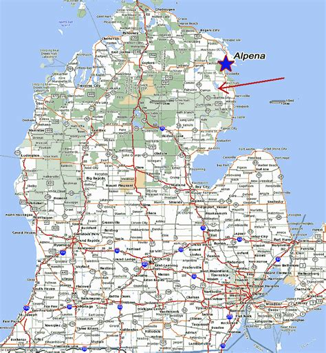 Of Michigan Search Map Of Lower Michigan Search Engine At Search