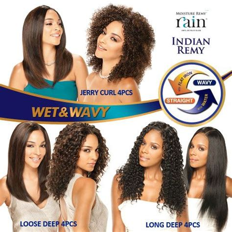 milky way wet and wavy milky way indian remy human hair weave moisture remy rain
