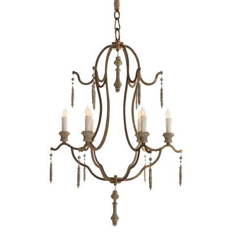 Simple Chandelier For Sale Marisol Country Simple Gold Iron 6 Light