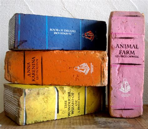 book bricks for the best bookends ever abebooks reading