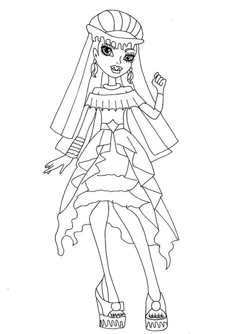 monster high coloring pages baby abbey bominable abbey bominable 13 wishes monster high color pages