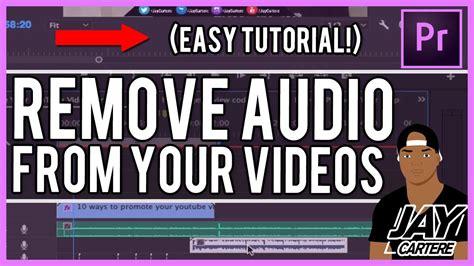 adobe premiere pro remove audio adobe premiere pro cc how to delete audio how to