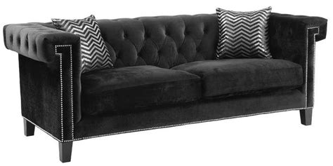 coleman couch reventlow black sofa from coaster coleman furniture
