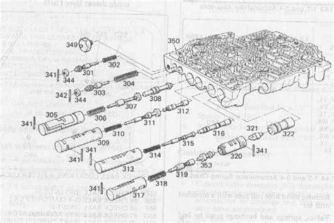 700r4 valve diagram 700r4 valve exploded view autos post
