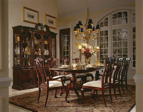american drew cherry dining room set american drew cherry grove 7 pc double pedestal dining set