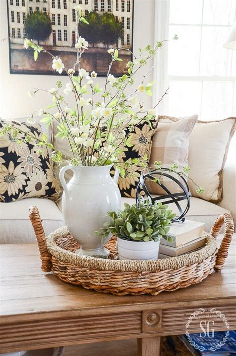 home decor table centerpiece spring coffee table decor see how they did it