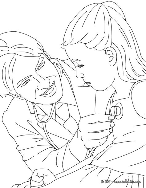 coloring pages kid com kid with doctor coloring pages hellokids com
